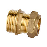 Plumbsure Compression Straight Coupler (Dia)22mm x 25.4mm