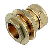 Plumbsure Compression Straight Tank connector, (Dia)22mm