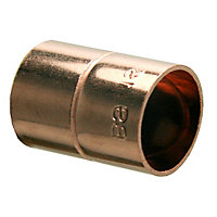 Plumbsure End feed Straight Coupler (Dia)15mm, Pack of 20