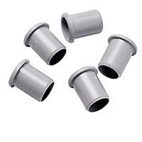 Plumbsure Grey Plastic Push-fit Pipe insert (Dia)22mm, Pack of 5