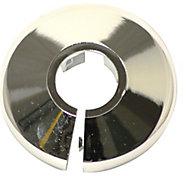 Plumbsure M445CQV3 Plastic Chrome effect Pipe collar (Dia)22mm, Pack of 5