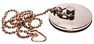 Plumbsure Metal Gold effect Bath Plug & chain (Dia)40mm