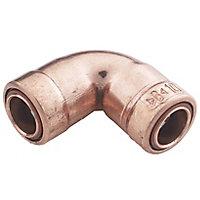 Plumbsure Push-fit 90° Pipe elbow (Dia)10mm