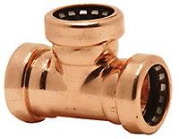 Plumbsure Push-fit Equal Pipe tee (Dia)15mm x 15mm x 15mm