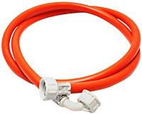 Plumbsure Red Compression Washing machine Hose, (L)2.5m (Dia)16mm