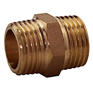 Plumbsure Threaded Central heating Pipe nipple, ½""