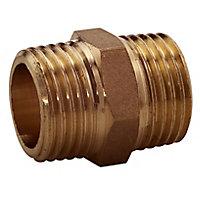 "Plumbsure Threaded Central heating Pipe nipple, ½"""