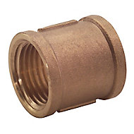 Plumbsure Threaded Central heating Pipe socket, ½""