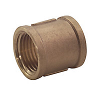 "Plumbsure Threaded Central heating Pipe socket, ¾"""