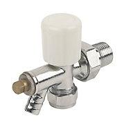 Plumbsure White chrome effect Radiator valve