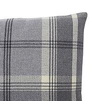 Podor Check Grey Cushion (L)45cm x (W)45cm