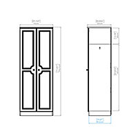 Polar White Double Wardrobe (H)1970mm (W)740mm (D)530mm