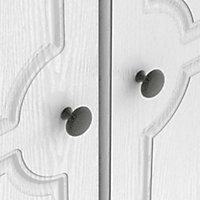 Polar White Double Wardrobe (H)1970mm (W)740mm (D)530mm