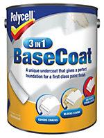 Polycell 3 in 1 White Matt Basecoat 5L