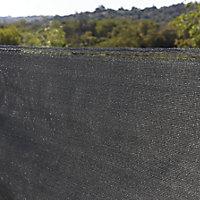 Polyethylene (PE) Dark grey Garden screen (H)1.2m (W)5m