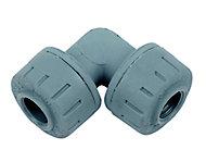 PolyPlumb Push-fit 90° Pipe elbow (Dia)10mm