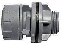 PolyPlumb Push-fit Straight Tank connector, (Dia)22mm