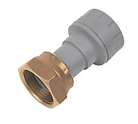 """PolyPlumb Straight Push-fit Tap connector 15mm x 0.5"""""""