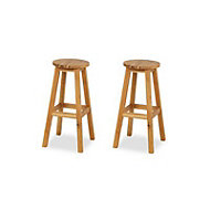 Porak Non-adjustable Fixed Stool, Pack of 2