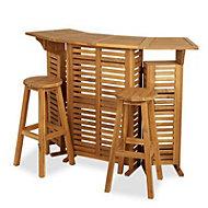Porak Wooden 2 seater Bar