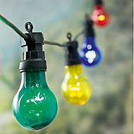 Premier Bulb Mains-powered Multicolour 20 LED Indoor & outdoor String lights