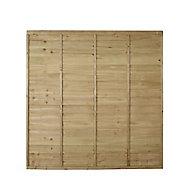 Premier Overlap Lap Fence panel (W)1.83m (H)1.83m, Pack of 5