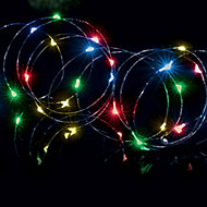 Premier Pin wire Multicolour 200 LED Outdoor String lights