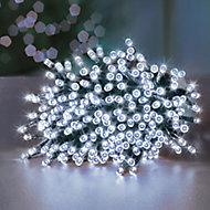 Premier Solar-powered White 1000 LED Outdoor String lights