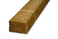 Pressure treated Timber Feather edge Fence board (L)1.8m (W)125mm (T)11mm, Pack of 8