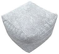 Primeur Bubble Plain Bean bag cube, Stone