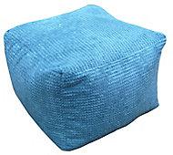 Primeur Bubble Plain Bean bag cube, Teal