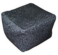 Primeur Elite Plain Bean bag cube, Black