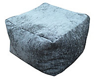 Primeur Elite Plain Bean bag cube, Charcoal