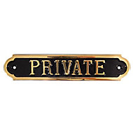 Private No admittance sign, (H)50mm (W)240mm