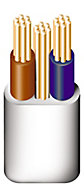 Prysmian 6242YH 3 core 10mm² Twin & earth cable, 10m