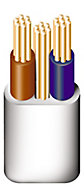 Prysmian 6242YH 3 core 10mm² Twin & earth cable, 5m