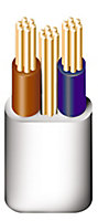 Prysmian 6242YH 3 core 6mm² Twin & earth cable, 5m