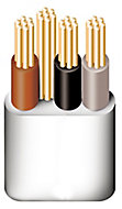 Prysmian Grey 3 core Multi-core cable 50m