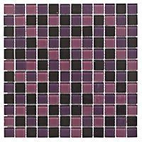 Purple Glass Mosaic tile, (L)300mm (W)300mm