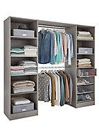 Qazar Matt grey oak effect Large Wardrobe Bedroom Internal Freestanding Dressing kit (H)2000mm (L)2200mm (W)2200mm (D)480mm