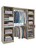 Qazar Matt oak effect Large Wardrobe Bedroom Internal Freestanding Dressing kit (H)2000mm (L)2200mm (W)2200mm (D)480mm