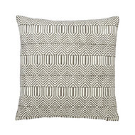 Quartz Geometric Light grey Cushion (L)45cm x (W)45cm