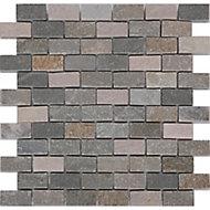 Quartzite Beige Natural stone Mosaic tile sheets, (L)300mm (W)300mm