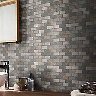 Quartzite Beige Polished Natural stone Mosaic tile sheet, (L)300mm (W)300mm