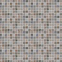 Quartzite Beige Polished Natural stone Mosaic tile sheet, (L)300mm (W)303mm