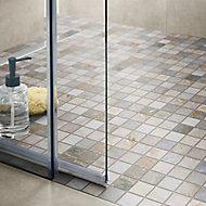 Quartzite Beige Stone effect Natural stone Mosaic tile sheets, (L)300mm (W)303mm