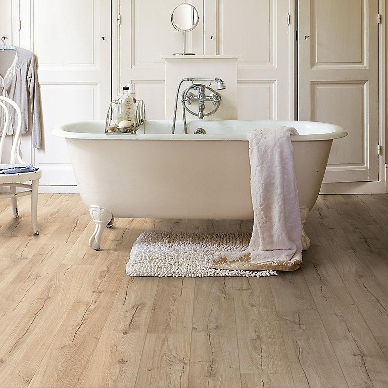 Quick Step Aquanto Classic Beige Oak, Waterproof Laminate Flooring B&Q