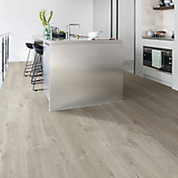 Quick-step Aquanto Dark grey Oak effect Laminate Flooring, 1.835m² Pack