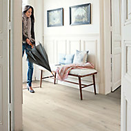 Quick-step Aquanto Light grey Oak effect Laminate flooring, 1.84m² Pack