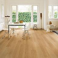 Quick-step Aquanto Varnished Oak effect Laminate Flooring, 1.84m² Pack